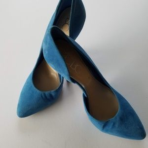 BCBG royal blue suede heel size 8.5